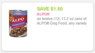 alpo $1.50 off 12 cans