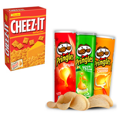 cheez-it and pringles