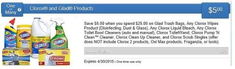 clorox saving