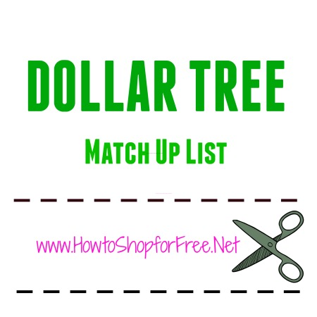 dollar tree match up list