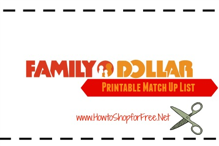 fami;y dollar match up list