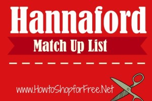 Hannaford CouponMatch Ups – Oct 15 – 21