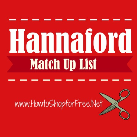 hannaford match up list