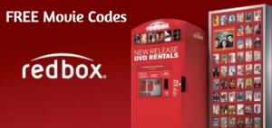 redbox free moive codes