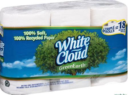 white cloud bath tissue