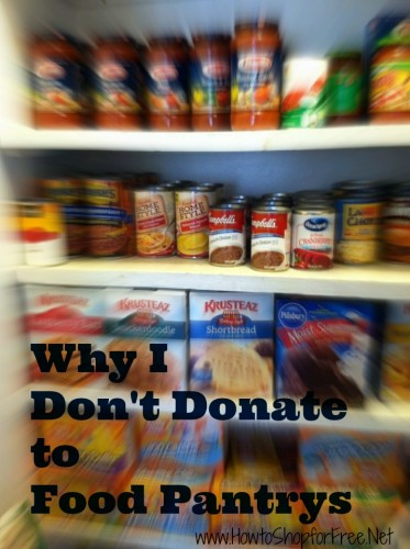 why i dont donate to food pantrys