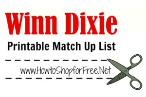 Winn-Dixie Coupon Match-ups  – Oct 26 – Nov 1