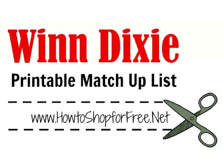 winn dixie match up list