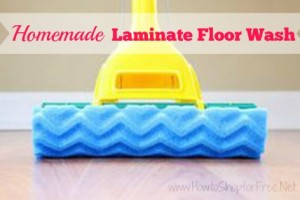 Make Homemade Laminate Floor Wash for Pennies