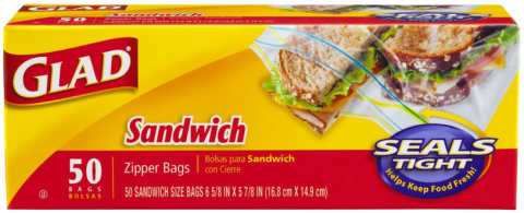 glad sandwich bags