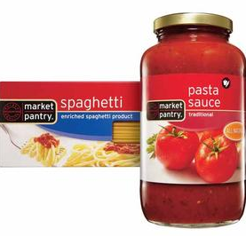market pantry sauce and pasta