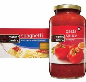 market pantry sauce and pasta