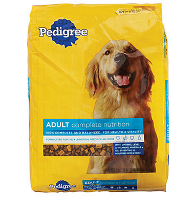 pedigree dog food bag