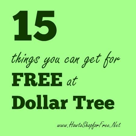 15 free at Dollar Tree