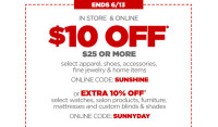 $10/$25 JCPenny (in-store or online) through 6/13!