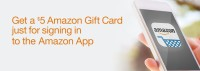FREE $5.00 Amazon Gift Card for getting the Amazon App