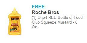 Free Mustard at Roche Bros!