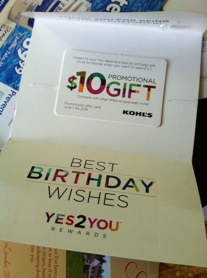 FREE 1000 Birthday Gift From Kohls
