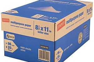 Case of Paper only 4.99 at Staples!