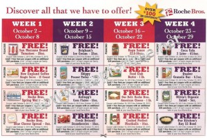 8 Weeks of Freebies at Roche Bros!!!