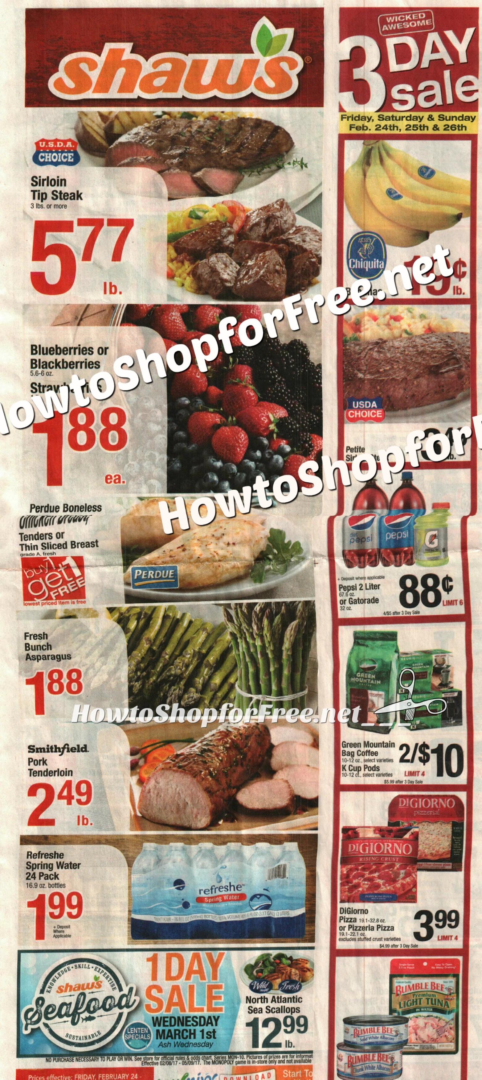 Shaws weekly sales flyer : Nisen sushi commack