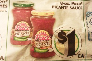 75¢ for Pace Salsa @ Dollar Tree