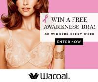 Enter to win a FREE Wacoal Bra! (30 bras per week being given away!!)