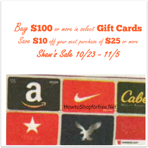 Shaws gift cards