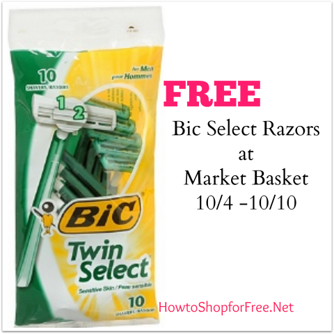 bic free at Market basket