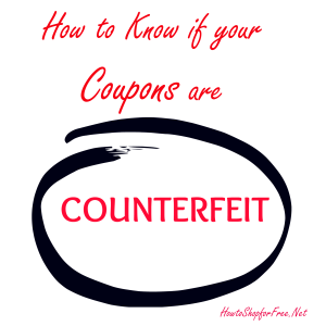 How to Know if your Coupon is Counterfeit