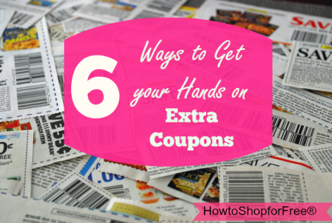 hand on extra coupons