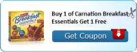 HOT COUPON ALERT!   BOGO Carnation Breakfast Essentials