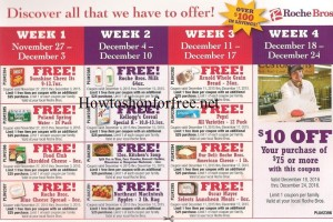 8 more Weeks of Freebies at Roche Bros!!!