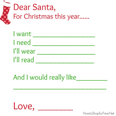 photograph relating to Printable Wish Lists named Pricey Santa\