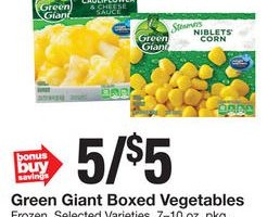 Free Green Giant Frozen Vegetables at Stop & Shop!