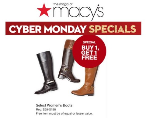 Macy S Cyber Monday Deal Bogo Boots How To Shop For Free With Kathy Spencer