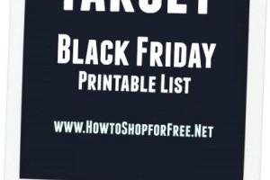 Target Black Friday – Nov 23 – Nov 26