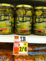 Mt. Olive Pickles ONLY .50!