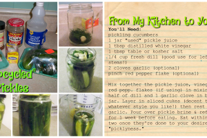 """Ashley's """"Upcycled"""" Pickles (Recipe)"""