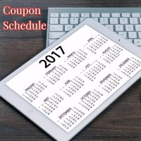 2017 Coupon Schedule