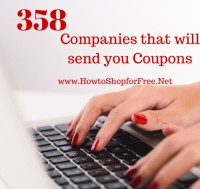 358 Companies to Contact for Coupons