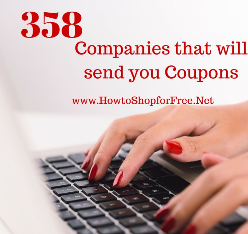 Manufacturer Coupons Mail >> Companies That Send You Coupons For Free How To Shop For