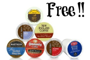 FREE Single Cup Coffee Pods Sample Box (10+)