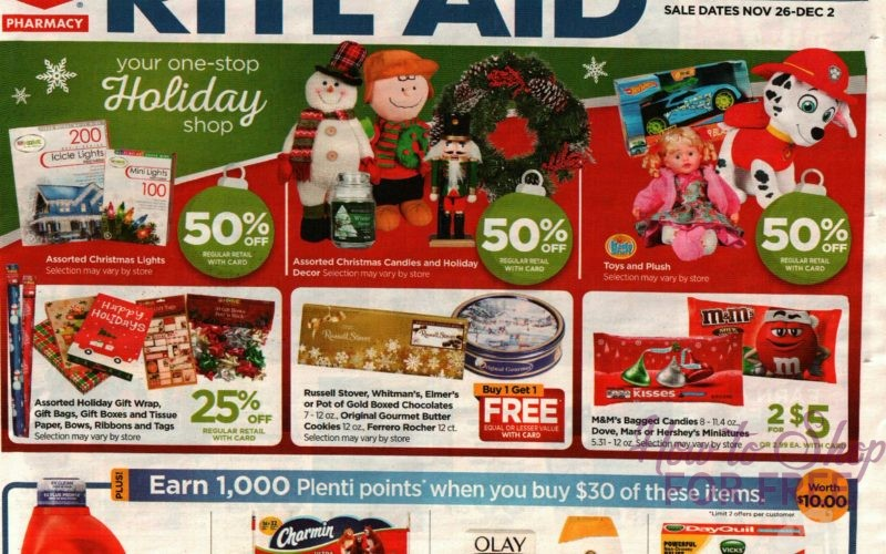 EARLY Rite Aid Ad Scan~ 11/25 – 12/2