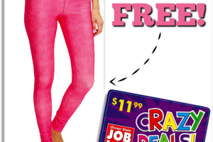 FREE Yoga Pants at Ocean State Job Lot!