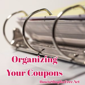 Couponing 101 – Organizing Your Coupons