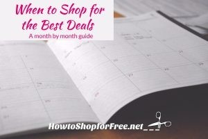 When to Shop for the Best Deals