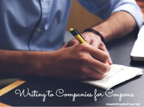 writing to companies for coupons