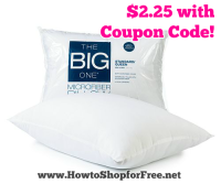 Microfiber Pillow ~ $2.25 from Kohl's!