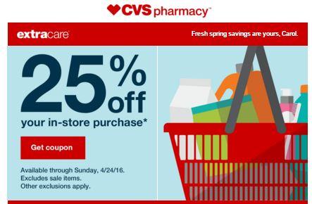 25% cvs